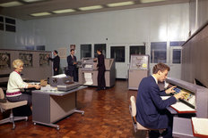 Cowley factory BMC 1965 Export Sales Department