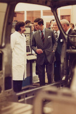 Prince Charles Metro launch 1980