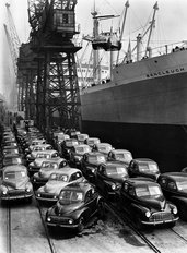 Morris cars for export 1949
