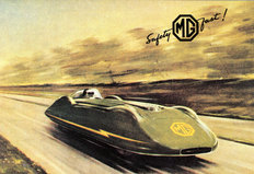 MG EX135 record breaking car 1952
