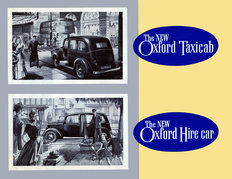 Morris Oxford taxicab and hire car 1950
