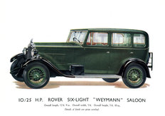 Rover 10/25 Six-Light  saloon 1930