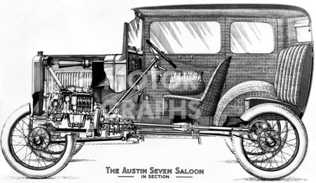 1920s Cars Drawing Austin Seven in Section 1920s