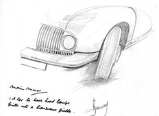 Sketch by Alec Issigonis 1944