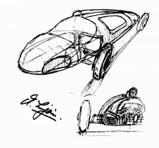 Sketch by Alec Issigonis 1930s