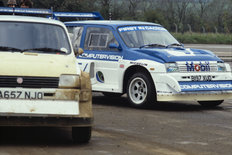MG Metro 6R4 track event 1985