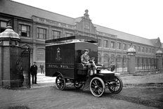 Royal Mail van early 1900s
