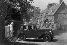 Standard A10 Saloon 1936 in country village