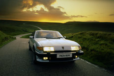 Rover SD1 3500 Vitesse 1983 in the sunset