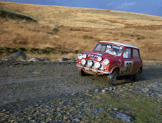Mini Cooper S at the RAC Rally of Great Britain EJB 550 in Scotland 1965
