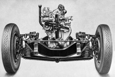 Rover (P3) front suspension 1948