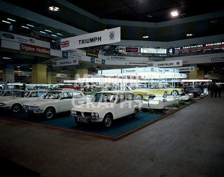 Triumph Motor Show stand 1972