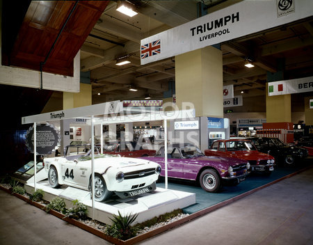 Triumph 'Liverpool' Motor Show stand 1974