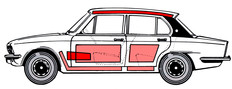 Triumph Dolomite line drawing 1977