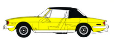 Triumph Stag line drawing 1976