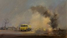 BMIHTOil Painting Leyland Truck