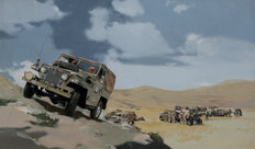 BMIHTOil Painting Land Rover Army