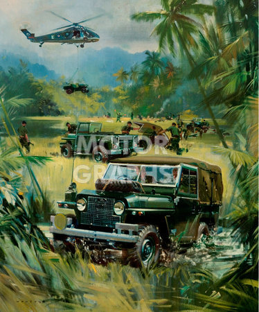 BMIHTOil Painting Land Rover Jungle