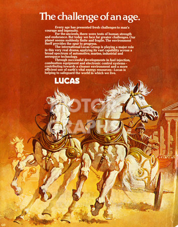 Lucas Advertisement Challenge Of An Age 1974
