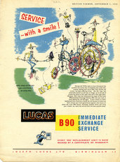 Lucas B90 Advert 1959