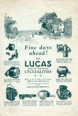 Lucas Cyclealities Advert