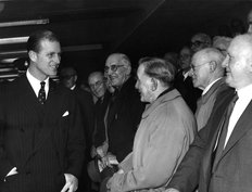 Lucas Prince Philip Greets Workers 1955