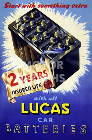 Lucas Car Batteries Poster