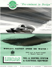 Lucas Speed On Water 1958
