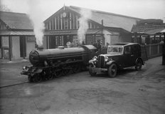 Steam Train With Standard Car